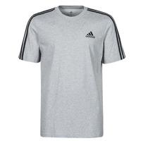 衣服 男士 短袖体恤 adidas Performance 阿迪达斯运动训练 M 3S SJ T 灰色