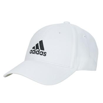 纺织配件 鸭舌帽 adidas Performance 阿迪达斯运动训练 BBALL CAP COT 白色