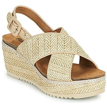 鞋子 女士 凉鞋 Refresh AMELA 米色