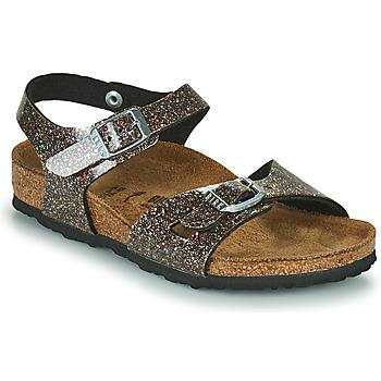 鞋子 女孩 凉鞋 Birkenstock 勃肯 RIO 黑色 / 金色