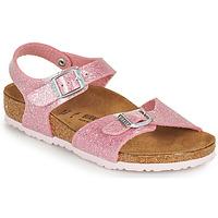 鞋子 女孩 凉鞋 Birkenstock 勃肯 RIO PLAIN 玫瑰色