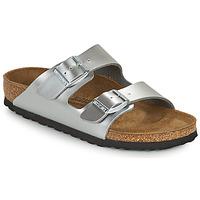 鞋子 女孩 休闲凉拖/沙滩鞋 Birkenstock 勃肯 ARIZONA 银灰色