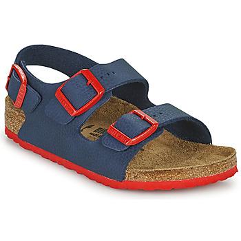 鞋子 男孩 凉鞋 Birkenstock 勃肯 MILANO 蓝色 / 红色