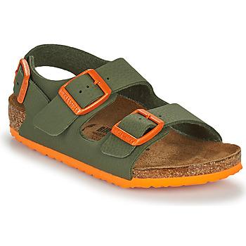 鞋子 男孩 凉鞋 Birkenstock 勃肯 MILANO 卡其色 / 橙色