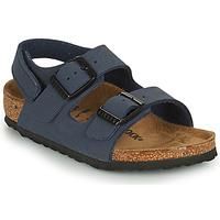 鞋子 男孩 凉鞋 Birkenstock 勃肯 MILANO HL 蓝色