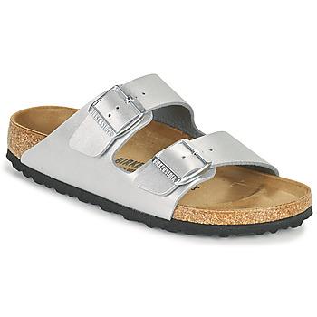 鞋子 女士 休闲凉拖/沙滩鞋 Birkenstock 勃肯 ARIZONA 银灰色