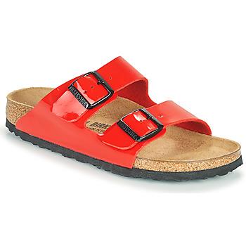 鞋子 女士 休闲凉拖/沙滩鞋 Birkenstock 勃肯 ARIZONA 红色