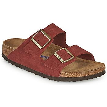 鞋子 女士 休闲凉拖/沙滩鞋 Birkenstock 勃肯 ARIZONA SFB 红色