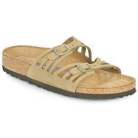 鞋子 女士 休闲凉拖/沙滩鞋 Birkenstock 勃肯 GRANADA SFB 卡其色