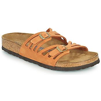 鞋子 女士 休闲凉拖/沙滩鞋 Birkenstock 勃肯 GRANADA SFB 橙色