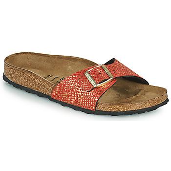 鞋子 女士 休闲凉拖/沙滩鞋 Birkenstock 勃肯 MADRID 红色 / 金色