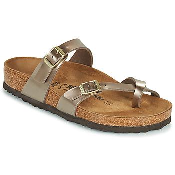 鞋子 女士 休闲凉拖/沙滩鞋 Birkenstock 勃肯 MAYARI 金色