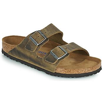鞋子 男士 休闲凉拖/沙滩鞋 Birkenstock 勃肯 ARIZONA SFB 卡其色