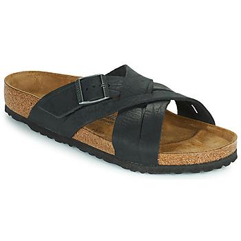 鞋子 男士 休闲凉拖/沙滩鞋 Birkenstock 勃肯 LUGANO 黑色