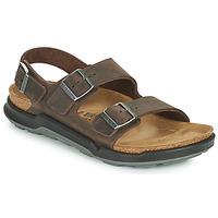 鞋子 男士 凉鞋 Birkenstock 勃肯 MILANO CT 棕色
