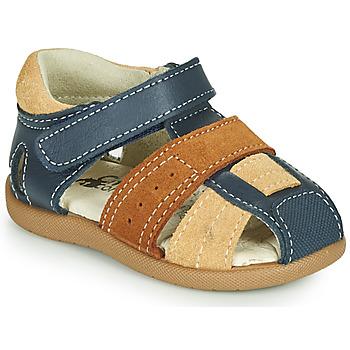 鞋子 男孩 凉鞋 Citrouille et Compagnie OLOSS 蓝色 / 棕色