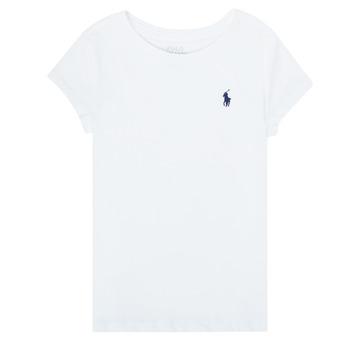 衣服 女孩 短袖体恤 Polo Ralph Lauren ZALLIE 白色