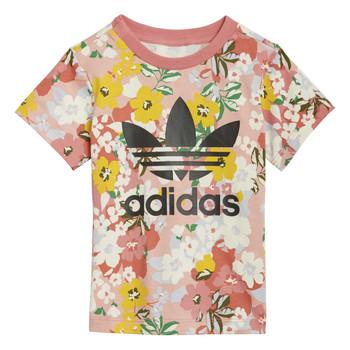 衣服 女孩 短袖体恤 Adidas Originals 阿迪达斯三叶草 GN2262 多彩