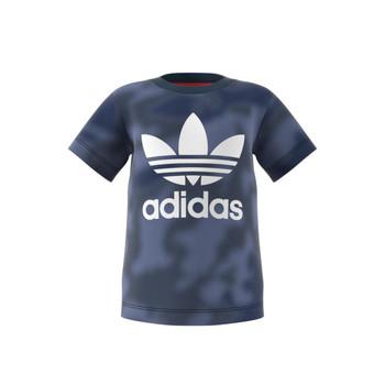衣服 男孩 短袖体恤 Adidas Originals 阿迪达斯三叶草 GN4116 蓝色