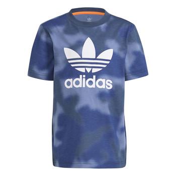 衣服 男孩 短袖体恤 Adidas Originals 阿迪达斯三叶草 GN4119 蓝色