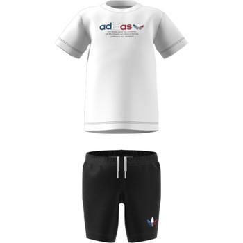 衣服 儿童 女士套装 Adidas Originals 阿迪达斯三叶草 GN7413 白色