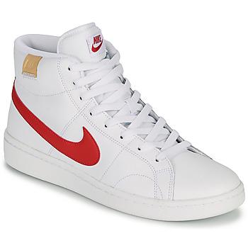 鞋子 男士 球鞋基本款 Nike 耐克 COURT ROYALE 2 MID 白色 / 红色