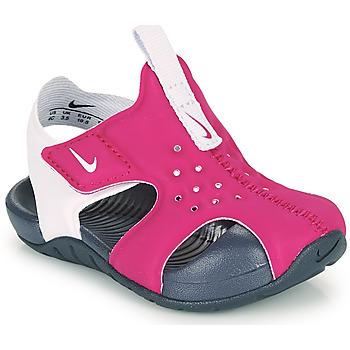 鞋子 女孩 拖鞋 Nike 耐克 SUNRAY PROTECT 2 TD 紫罗兰