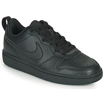 鞋子 儿童 球鞋基本款 Nike 耐克 COURT BOROUGH LOW 2 GS 黑色