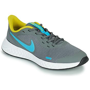 鞋子 男孩 多项运动 Nike 耐克 REVOLUTION 5 GS 灰色 / 蓝色