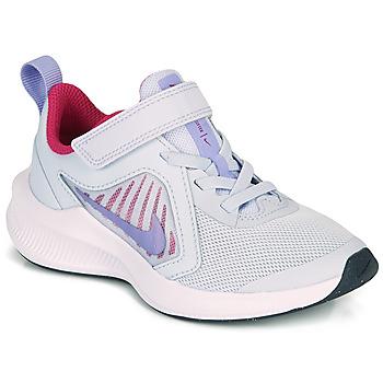 鞋子 女孩 多项运动 Nike 耐克 Downshifter 10 PS 蓝色 / 紫罗兰
