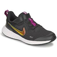 鞋子 女孩 球鞋基本款 Nike 耐克 REVOLUTION 5 SE PS 黑色