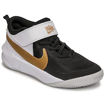 鞋子 儿童 多项运动 Nike 耐克 NIKE TEAM HUSTLE D 10 白色 / 黑色 / 金色