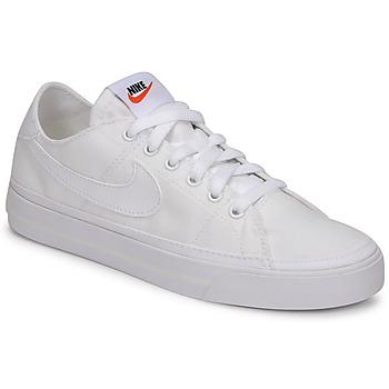 鞋子 女士 球鞋基本款 Nike 耐克 NIKE COURT LEGACY CANVAS 白色