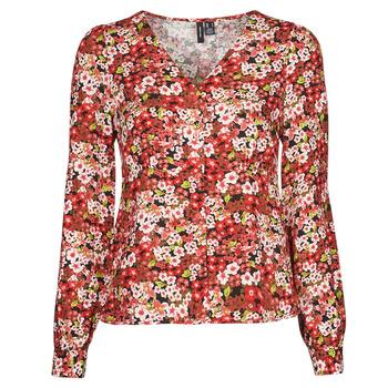 衣服 女士 衬衣/长袖衬衫 Vero Moda VMSIMPLY EASY 红色