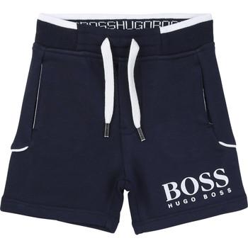 衣服 男孩 短裤&百慕大短裤 BOSS NOLLA 海蓝色