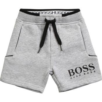 衣服 男孩 短裤&百慕大短裤 BOSS J04M57-A32-B 灰色