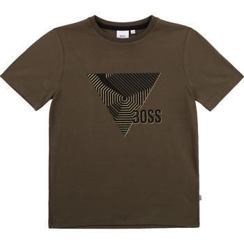 衣服 男孩 短袖体恤 BOSS J25L02-64C-B 卡其色