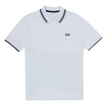 衣服 男孩 短袖保罗衫 BOSS TONNELA 白色