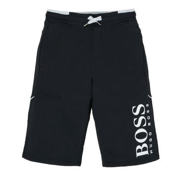 衣服 男孩 短裤&百慕大短裤 BOSS KIMOLI 黑色