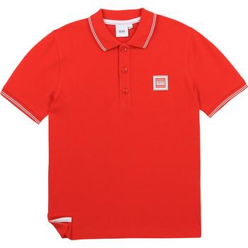 衣服 男孩 短袖保罗衫 BOSS BARBORA 红色
