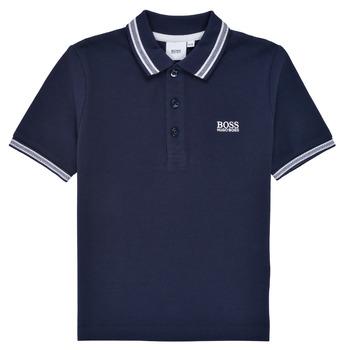 衣服 男孩 短袖保罗衫 BOSS TONNELA 海蓝色