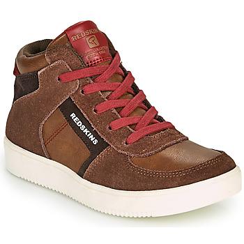 鞋子 男孩 高帮鞋 Redskins LAVAL KID 棕色 / 红色