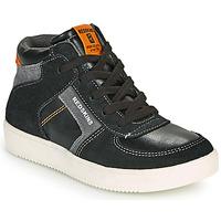 鞋子 男孩 高帮鞋 Redskins LAVAL KID 黑色 / -煤灰色