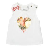 衣服 女孩 无领短袖套衫/无袖T恤 Ikks XS10030-19 白色