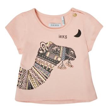 衣服 女孩 短袖体恤 Ikks XS10100-32 玫瑰色