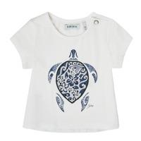 衣服 女孩 短袖体恤 Ikks XS10070-19 白色