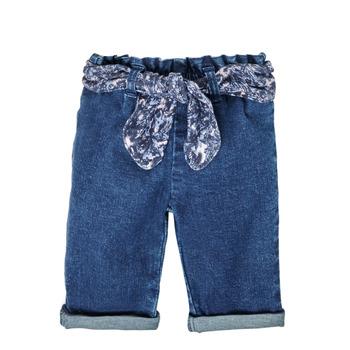 衣服 女孩 直筒牛仔裤 Ikks XS29000-86 蓝色