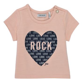 衣服 女孩 短袖体恤 Ikks XS10120-31 玫瑰色