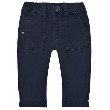 衣服 男孩 多口袋裤子 Ikks XS29011-48 海蓝色