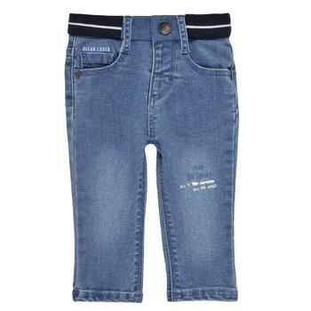 衣服 男孩 紧身牛仔裤 Ikks XS29001-83 蓝色